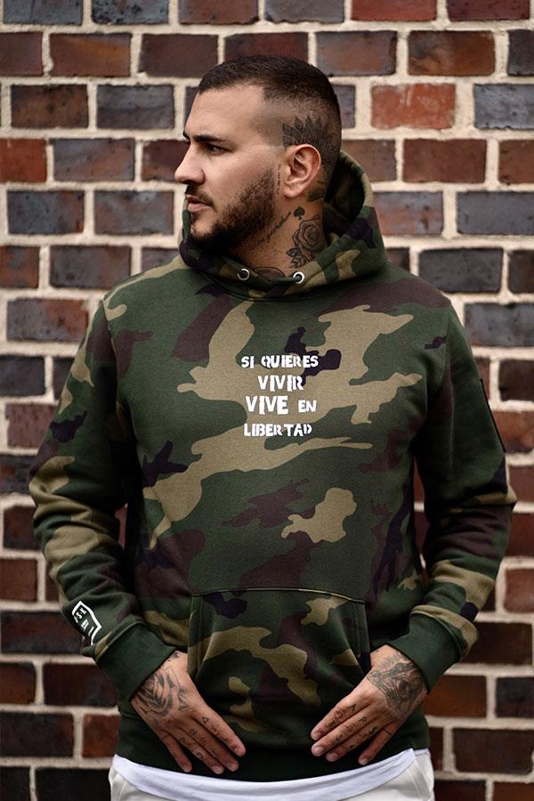 Camouflage Statement Hoodie