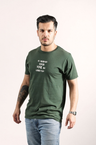 Organic Statement T-Shirt Green